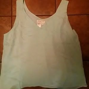 Women's aqua georgette blouse NWT